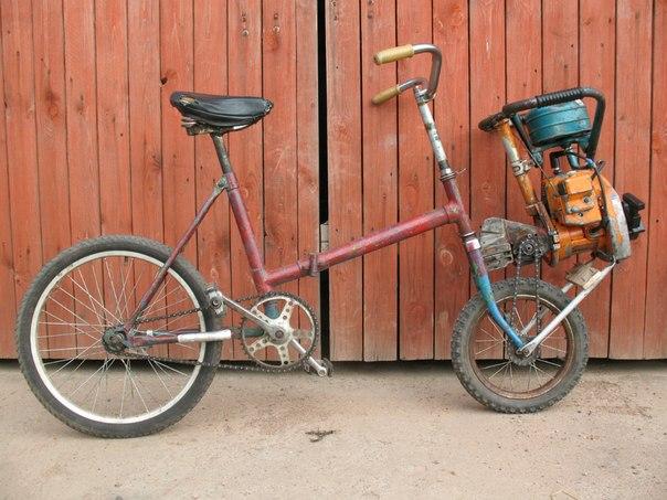 Как сделать бензопилу на велосипед