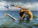 русалка и чайка (500x382, 45Kb) .