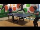 Первый урок по теннису