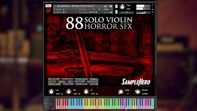 SampleHero - 88 Solo Violin Horror SFX