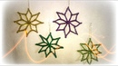 Estrellas navideñas con limpiapipas/ stars with pipe cleaners