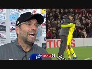Jurgen Klopp apologises for his celebration and reacts to bizarre late winner! | Liverpool v Everton