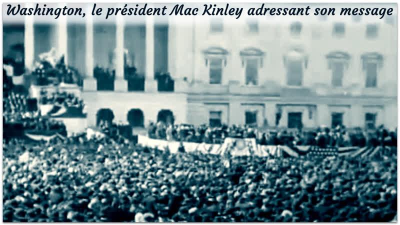Washington le président Mac Kinley adressant son message