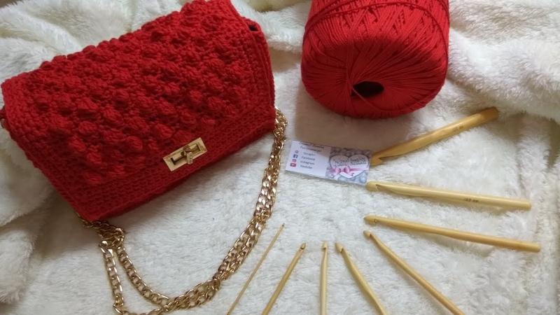 Borsa bag pochette rossa ad uncinetto crochet facilissima
