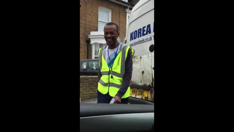Lad pranks unsuspecting people with an air horn
