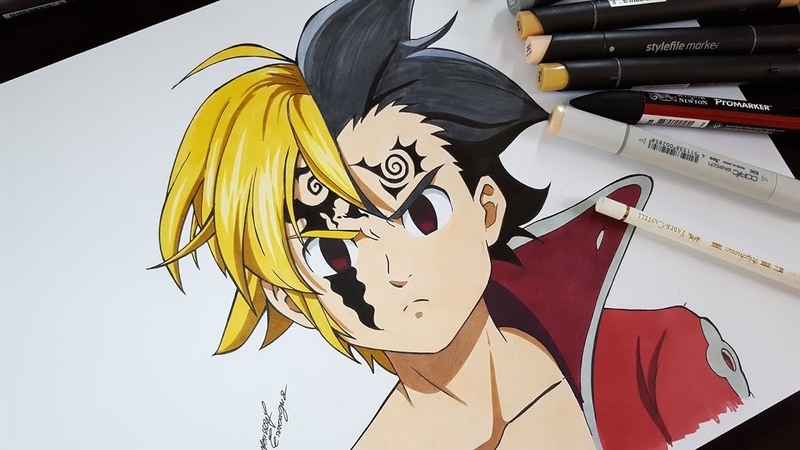 Drawing Meliodas Zeldris From Seven Deadly Sins (Nanatsu No Taizai)