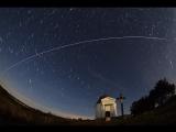 Парный пролет Международной космической станции и японского космического грузового корабля HTV-7 «Kounotori-7»