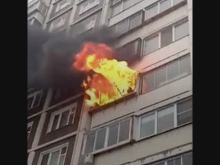 Пожар в квартире на Флотской улице