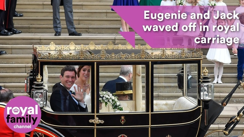 Princess Eugenie and Jack waved off on carriage ride