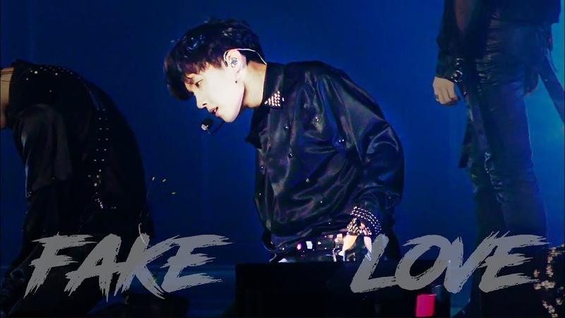 180920 Love Yourself World Tour in Hamilton | Fake Love 4K | 제이홉 직켐 J-Hope Focus
