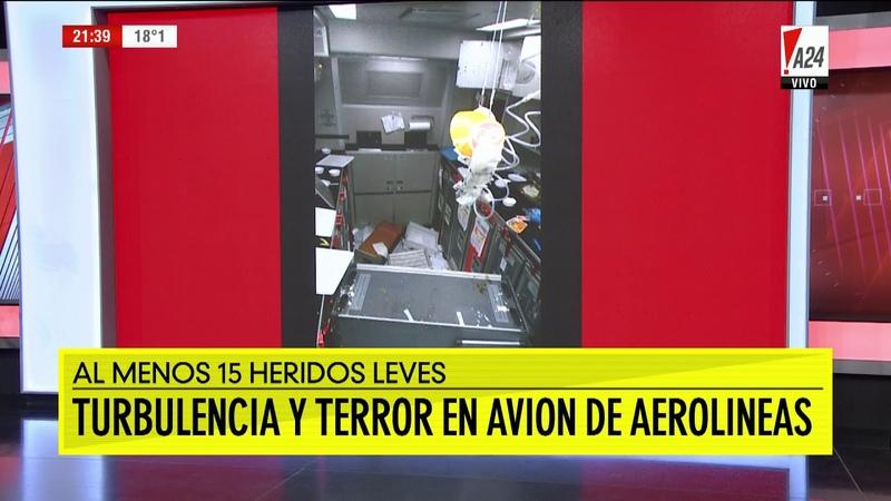 Turbulencia de terror: un avión de Aerolíneas Argentinas se sacudió con violencia