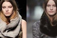 Снуд - это длинный и широкий шарф.  Он может быть небрежно повязан на шею.
