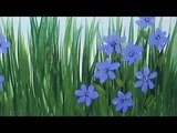 Acrylic Painting Wildflowers How to Paint Blue Eyed Grass