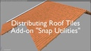 Distributing Roof Tiles using the Add-on - Snap Utilities