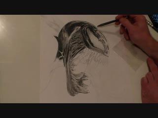Веном - простым карандашом.Venom pencil drawing. Рисунок карандашом