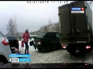 Санки под авто. Казань