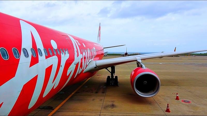 Landing Airbus A330 AirAsia X flight Kuala Lumpur - Jeju / Посадка Airbus A330 AirAsia X в Чеджу