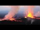 Извержение вулкана красивое видео съёмка с вертолета 2016.mp4