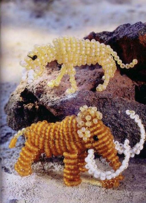 Из бисера тигр схема плетения Красочный бисер.