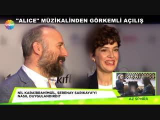 Интервью с Бергюзар и Халитом на мюзикле Алиса (Show TV)