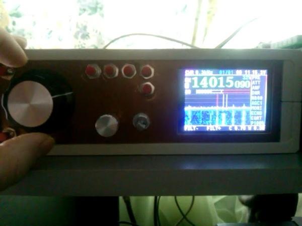 Клон трансивера Маламут, прием в CW (фильтр 300 герц)