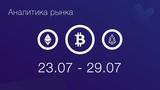 Аналитика криптовалют 23.07 - 29.07 BTC, ETH, EOS, BNB, BCC (BCH), XRP, IOTX, IOTA, TRX, ADA