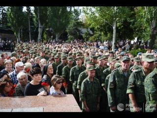 Прощание с Захарченко в Донецке