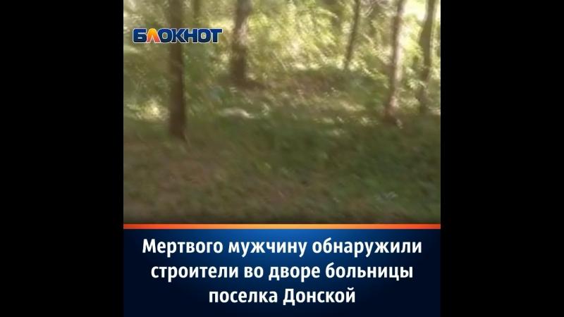Мертвого мужчину обнаружили во дворе больницы поселка Донской строители из Шахт