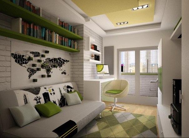 Дизайн комнаты 10 кв.м для молодого человека