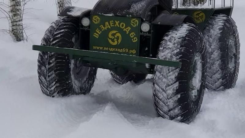Обзор вездехода. Езда по снегу.