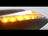 Motorcycle Mirrors Lucifer Two-tone Color LED Lights Black Magazi - KiWAV