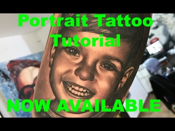 Portrait tattoo TUTORIAL AVAILABLE FOR PURCHASE