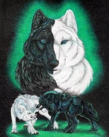Два волка. Когда-то давно...