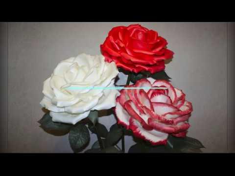 МК роза из изолона Формирование лепестков, сборка бутона на плафон.