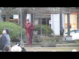 Grant Gustin does warm up run on set of THE FLASH in Costume for the 1st time in public Mar 11, 2014