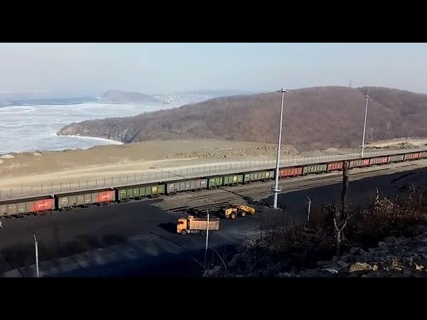 Угольный терминал в приморском поселке Подъяпольск 2