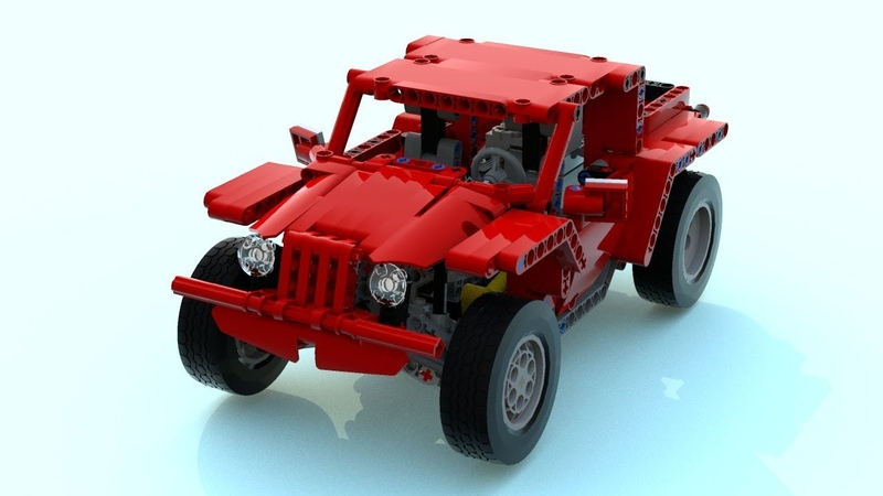 [MOC] Lego technic Jeep. LDD instruction available