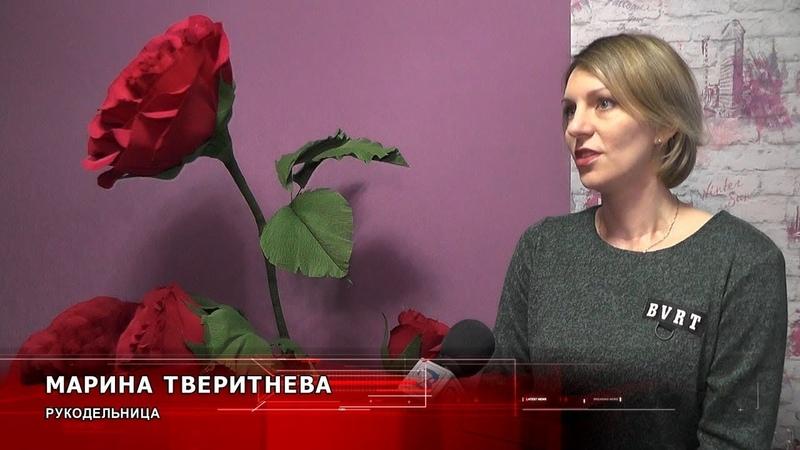 Гигантские цветы для декора как их делает пинчанка Марина Тверитнева