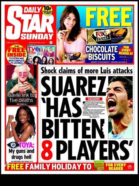 Daily Star: За карьеру Суарес укусил 8 футболистов - изображение 1
