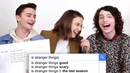 Millie Bobby Brown Finn Wolfhard Noah Schnapp Answer the Web's Most Searched Questions WIRED