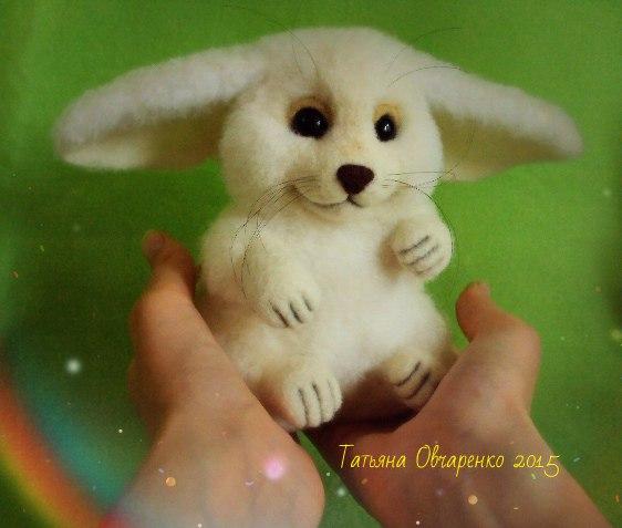 Авторская интерьерная игрушка Фенек Пухтя… (1 фото) - картинка