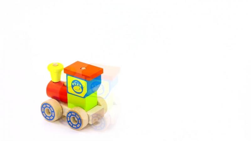 Конструктор каталка Паровозик ККП 03 - развивающие игрушки Alatoys (Алатойс)