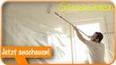 Decke und Wände streichen