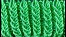 Простые узоры спицами Рельефная объемная резинка поворотными рядами и по кругу