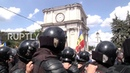 Moldova Thousands of opposition protesters occupy central Chisinau