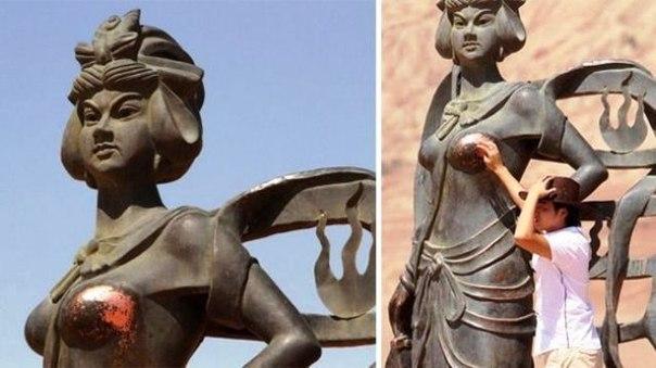 9 статуй, испорченных туристами-извращенцами