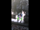 Charli XCX giving Camila a shoutout at the #repTourSeattle