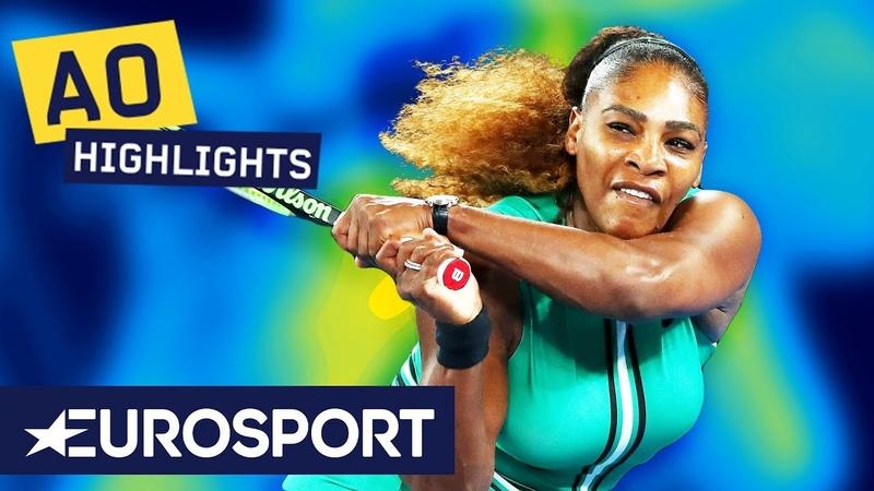 Serena Williams vs Eugenie Bouchard Highlights   Australian Open 2019 Round 2   Eurosport