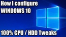 How I Configure Windows 10 for Gaming - 100% CPU and HDD Usage Tweaks - Santiago Santiago Tutorial