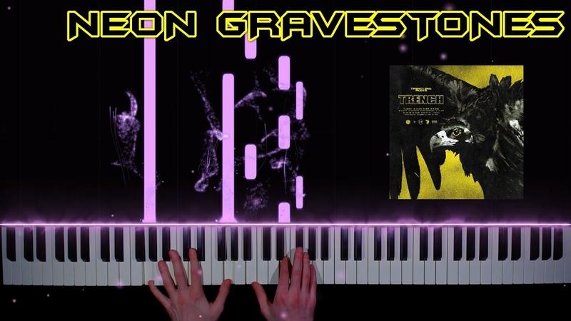 Twenty one pilots Neon Gravestones piano cover tutorial how to play